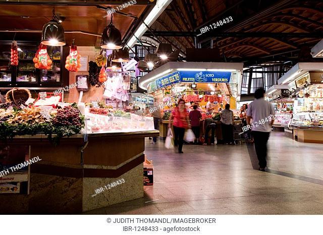 Market hall Mercat de Santa Caterina, Barcelona, Catalonia, Spain, Europe