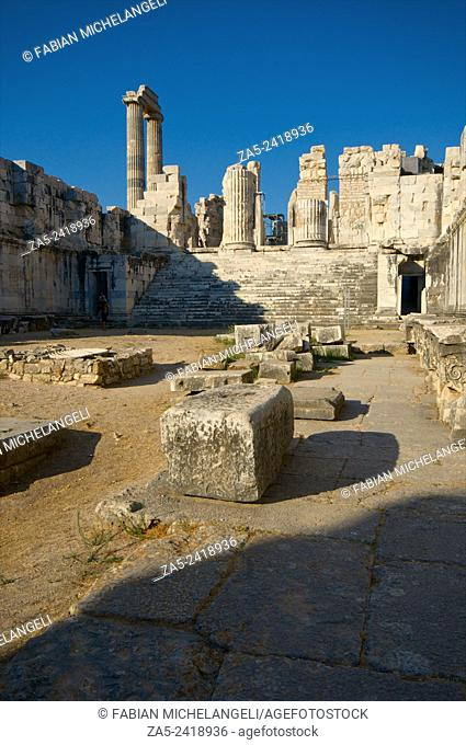 The sacred courtyard or Adyton. The Apollo Temple of Didyma (Didymaion) 10th C. BC-4th C. BC, destroyed by Darius I of Persia in 494 BC and reconstructed at the...