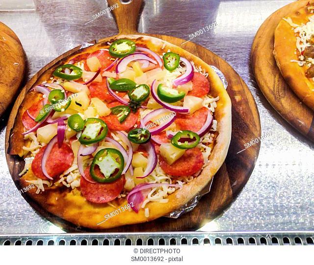 San Francisco, CA, USA, Pizza pie, Prepared Food in Food COurt