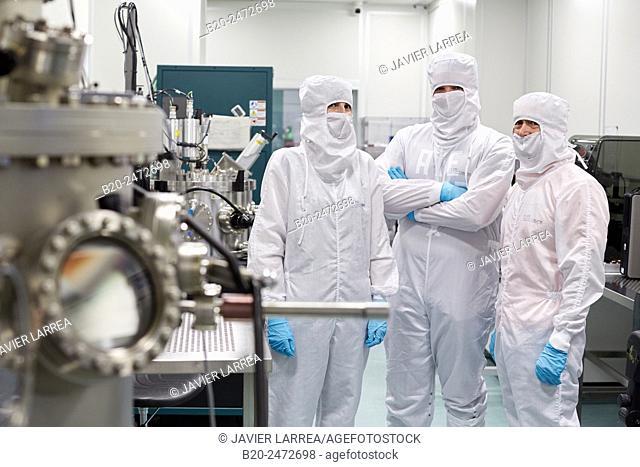 Createc UHV deposition system. Cleanroom. Nanotechnology. Laboratory. CIC nanoGUNE Nano science Cooperative Research Center. Donostia. San Sebastian