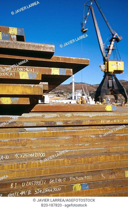 Steel. Port of Pasajes. Guipuzcoa. Spain