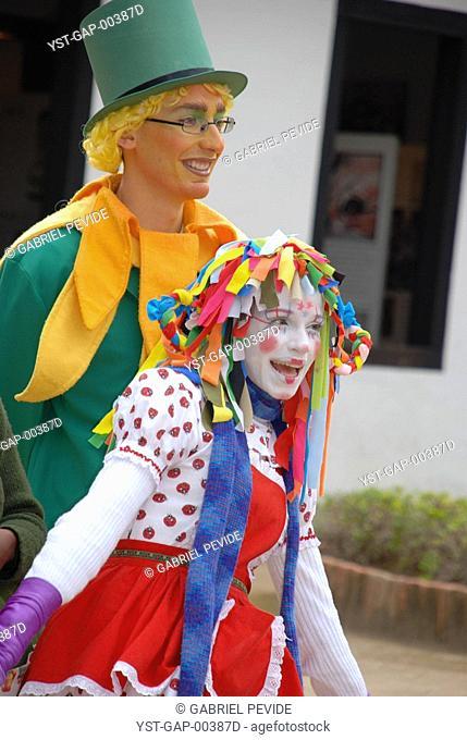 Wearing a costume people, São Paulo, Brazil