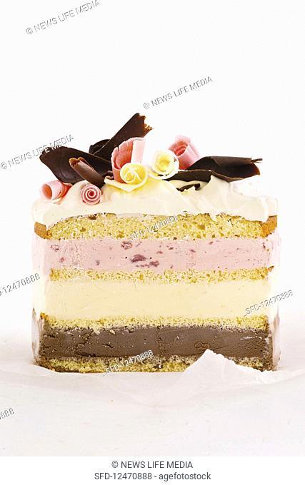 Neapolitan ice-cream cake