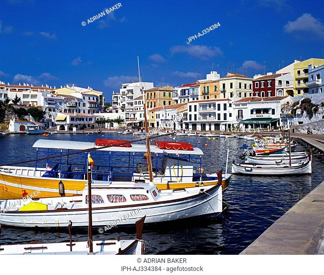 Menorca - Attractive harbour at Villa Carlos near Mahon the island's capital