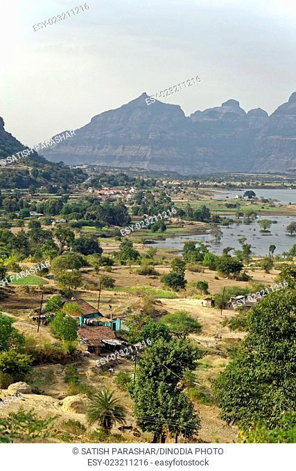 Landscape at malshej ghat, maharashtra, India, Asia