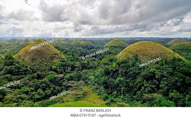 Chocolate Hills on Bohol Island, Philippines