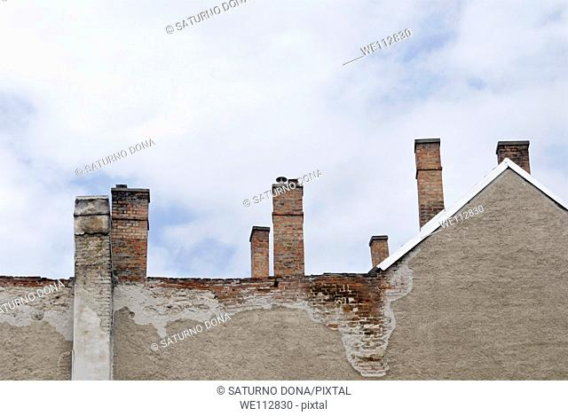 old house with chimneys