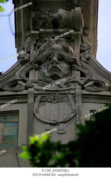 Details of Art-Nouveau decor
