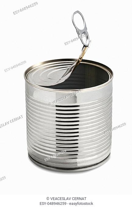 Empty tin can, isolated