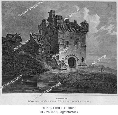'Remains of Morpeth Castle, Northumberland', 1814. Artist: John Greig