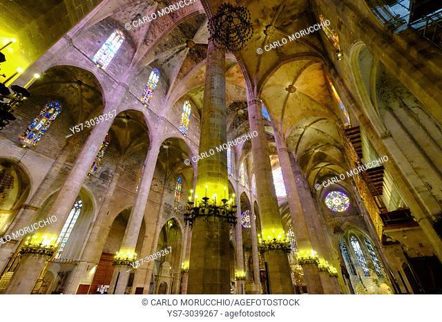 La Seu, the Cathedral of Santa Maria of Palma, Majorca, Spain