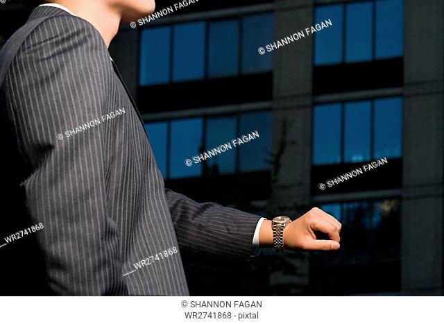 Businessman waiting