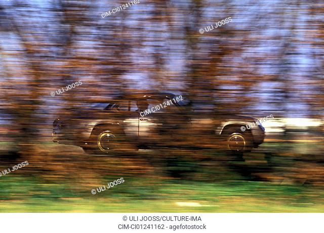 Car, Lancia Flaminia Zagato Coupe, Coupé, sports car, silver, vintage car, 1960s, sixties, driving, side view, road, country road, blurred, behind trees