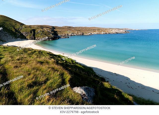 Europe, UK, Scotland, Outer Hebrides, Isle of Lewis - the deserted beach of Camas Traigh Bhoisadair at Carnais