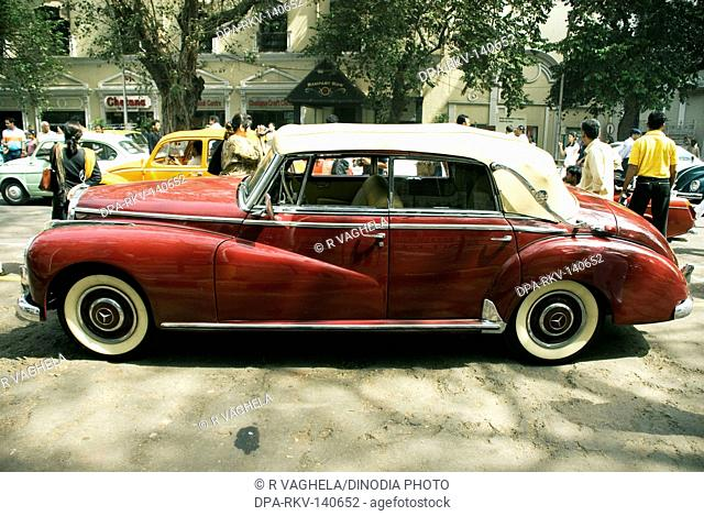 Mercedes Benz - Vintage Car ; Kalaghoda ; Bombay now Mumbai ; Maharashtra ; India