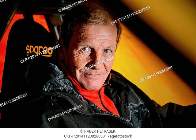 Racing driver Juha Kankkunen of Finland pictured during the exhibition car Race of champions in autodrom Sosnova, Ceska Lipa, Czech Republic, November 23, 2014