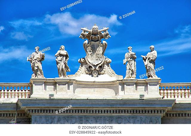 statues in the vatican