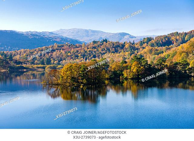 Rydal Water in the Lake District National Park. Cumbria. England