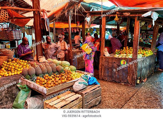 Markt in Stone Town, UNESCO World Heritage Site, Zanzibar, Tanzania, Africa - Stone Town, Zanzibar, Tanzania, 31/10/2015