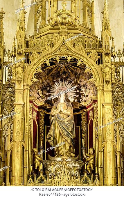 Iglesia de Sant Miquel,. siglos XVI y XVII ,varios estilos arquitectónicos, predominado el neogótico, Felanitx, Mallorca, balearic islands, Spain