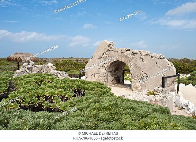 Old Maya ruins, Punta Sur Park, Isla de Cozumel Cozumel Island, Cozumel, off the Yucatan, Quintana Roo, Mexico, North America