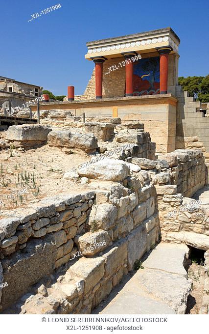 The North Propylaeum  Knossos Palace, Crete, Greece