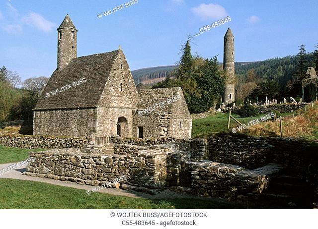 Monastery. Glendalough. Wicklow Gap. Co. Wicklow. Ireland