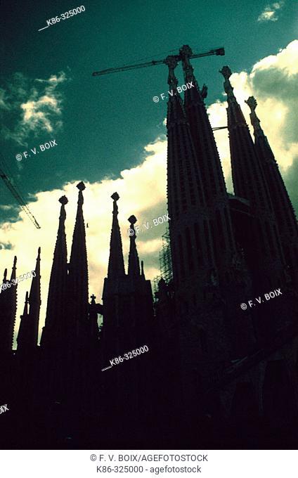 Sagrada Familia temple. Barcelona. Spain
