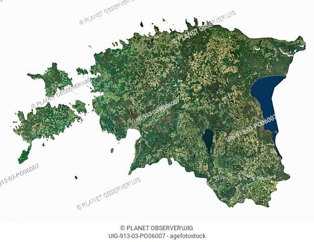 Estonia, Satellite Image