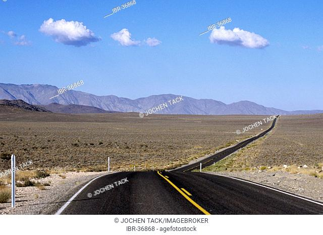 USA, United States of America, California: a road in the Mojave Desert