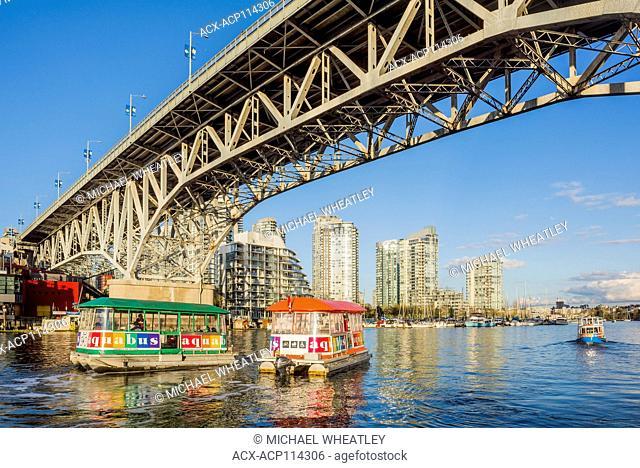Aquabus passenger ferries, False Creek, Vancouver, British Columbia, Canada