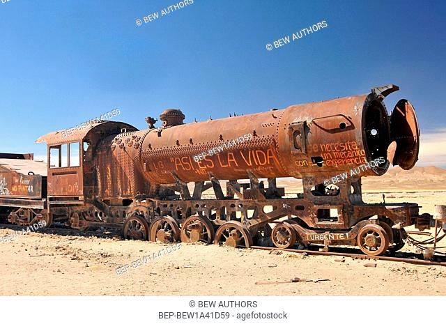Bolivia, Uyuni area, the Great Train Graveyard, Railway