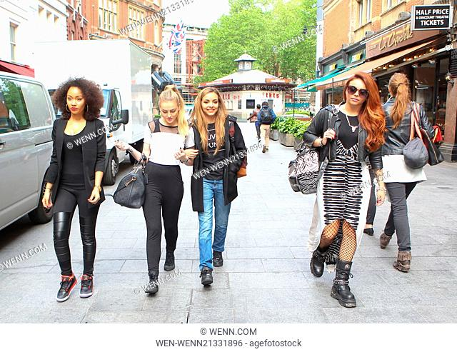 Little Mix leave Capital radio after the launch of The Summertime Ball Featuring: Leigh-Ann Pinnock,Perrie Edwards,Jesy Nelson Where: London