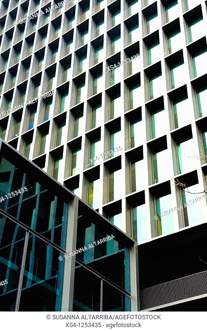 Imagina building, of 2008, in Diagonal Avd., 177, in the 22@ district, Barcelona, Spain, Europe. Of the architects Carles Ferrater and Patrick Genard