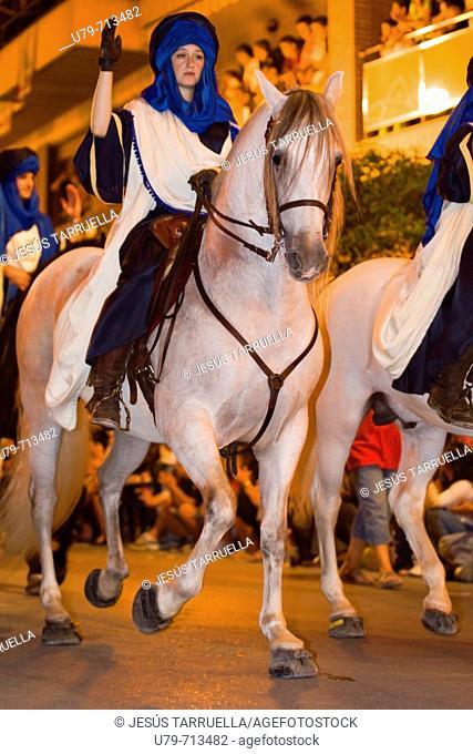 Celebration of Moros i Cristians battle in Valencia. Spain