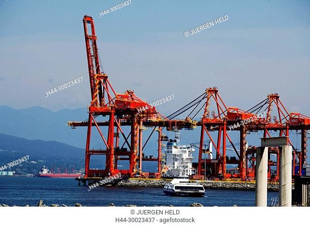 Port of Vancouver, Ferrry to Northern Vancouver,Canada, North America