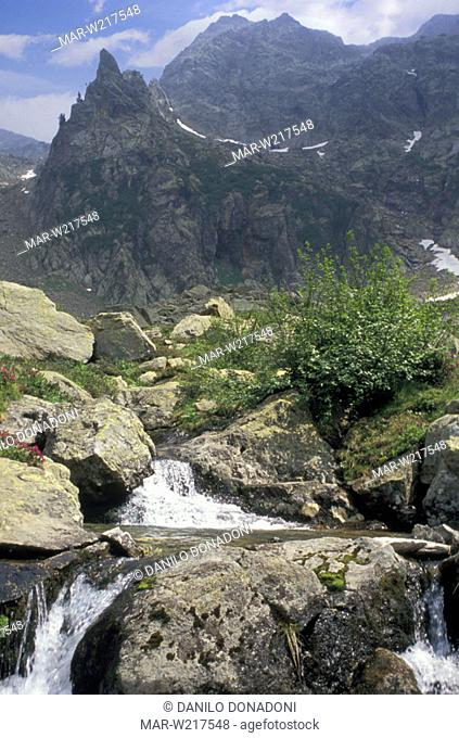 mountains of gesso valley, alpi marittime park, italy