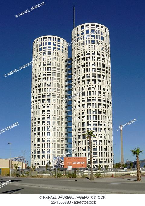 Los Barrios Cadiz, Spain  Skyscrapers Hercules Towers in Los Barrios near the city of Algeciras