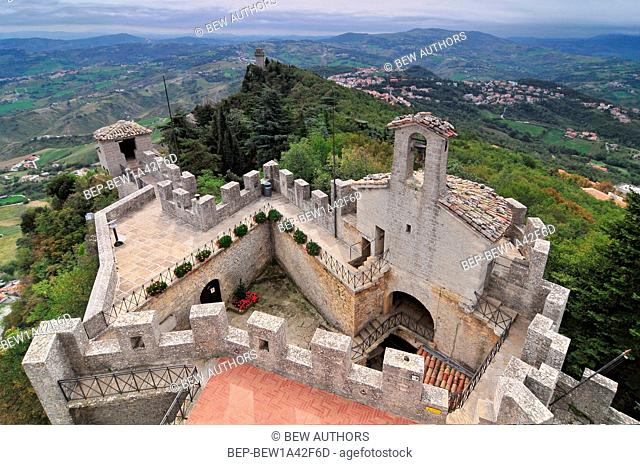 San Marino, the walls of the old city
