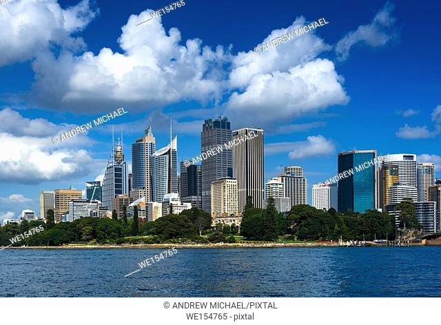 Panoramic skyline of Sydney cbd, New South Wales, Australia