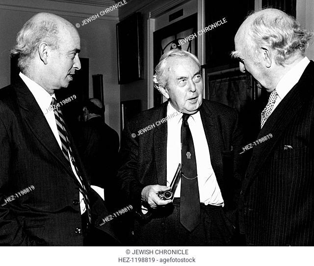 Harold Wilson (1916-1995), Former British Prime Minister, 1984. With Sir Claus Moser