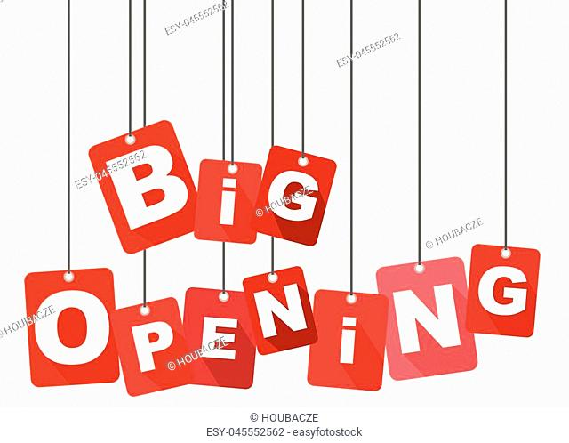 big opening, red vector big opening, flat vector big opening, background big opening