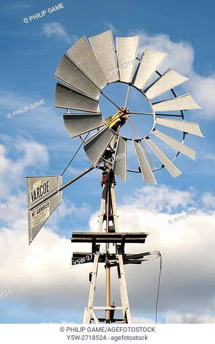 Windmill operating in Westgate Park, Fishermans Bend, Melbourne, Australia