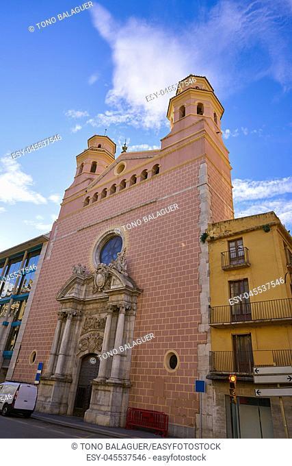 Sant Agusti church in Tarragona at Rambla Vella street of Catalonia