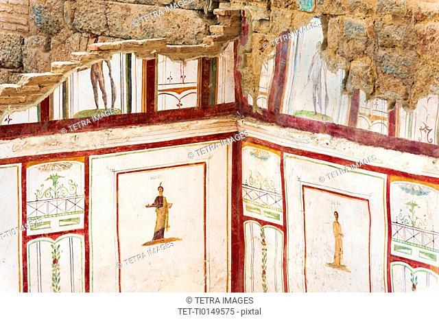 Turkey, Ephesus, Private house murals