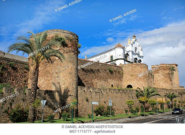 Plasencia fort wall, Caceres, Extremadura, Spain