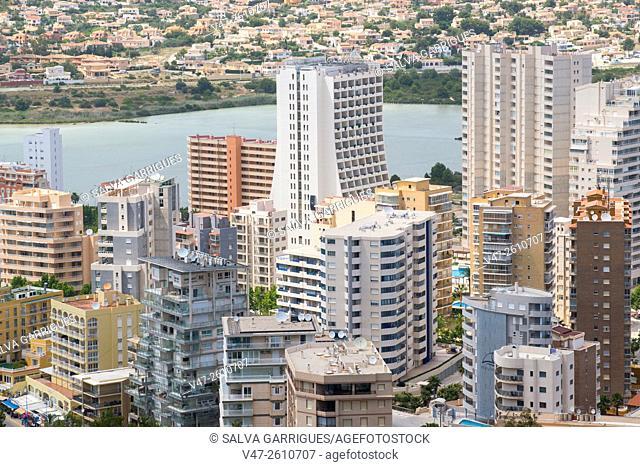 cityscape of buildings in Calpe, Alicante, Valencia, Spain, Europe