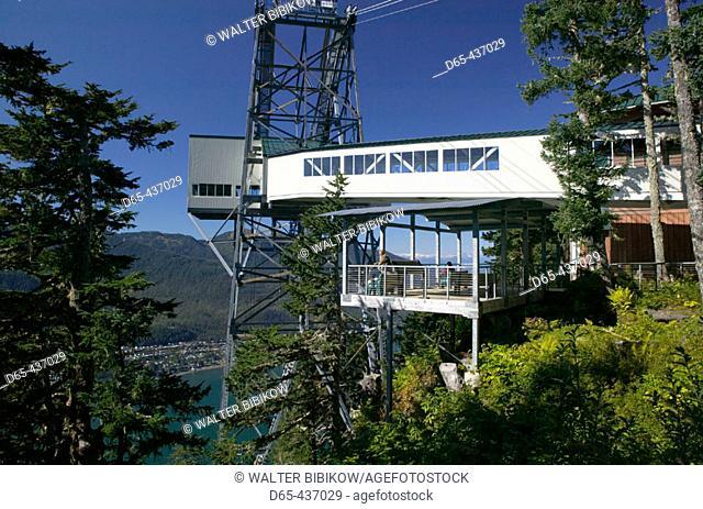 Tram Station. Mt. Roberts. Daytime. Juneau. Southeast Alaska. USA