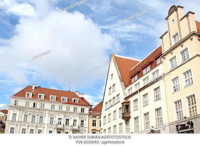 Buildings, Town Hall Square, Tallinn, Harju, Estonia