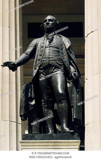 George Washington, Federal Hall, Wall Street, Lower Manhattan, New York, USA